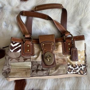 Like New Multiprint Coach Handbag